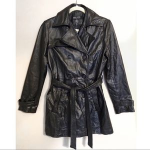 Genuine Leather Double Breasted Jacket